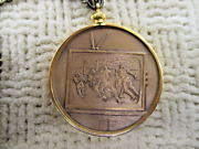 Bronze Coin Medallion Medal Football Fob Tube Tv To My Wife Vtg Estate Jewelry