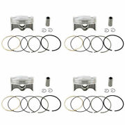 4x Piston Rings Pin Clips Kit 68mm +100 For Yamaha Yzf-r6 08-17 13s-11631-00-00