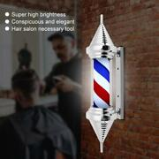 Barber Pole Stand Lamp Shop Accessories Vintage Light Led Rotating Waterproof