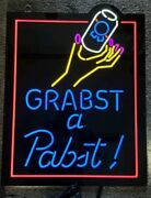 Pabst Beer Can Led Light Up Back Bar Sign Game Room Man Cave Pbr New