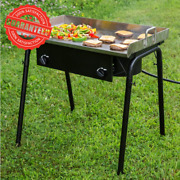Portable Double Burner Outdoor Range 30 Griddle Plate 32 Stainless Steel