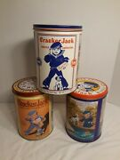 Limited Edition Cracker Jack Collectors Tin Container Lot Of 3