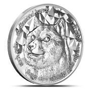2021 - Dogecoin 1 Oz .999 Fine Silver Btc Limited Xrp Blockchain - In Stock