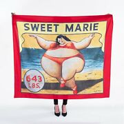 Vintage Sideshow Banner Tapestry 50x60 Freak Show Sweet Marie Replica