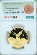 2020 Mexico 1/2 Onza Gold Libertad Ngc Pf 69 Ultra Cameo Key Only 250 Minted