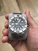 Rare Seiko 2nd Gen Black Monster Diverand039s Srp307 4r36 Menand039s Watch Discontinued
