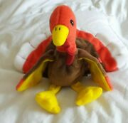 Rare Gobbles Ty Beanie Baby Mint Condition With Pvc Pellets