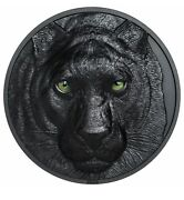 Sale 2020 Palau Black Panther Hunters By Night 2 Oz Silver Box/coa 1st Coin