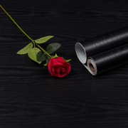 24 By 393 Peel And Stick Black Wood Wallpaper Contact Paper Black Wood
