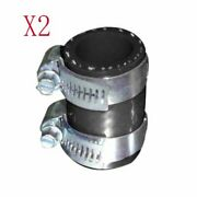 2pcs Black For Yamaha Blaster High Temp Silicone Exhaust Yfs 200 Clamp Id 1 Inch