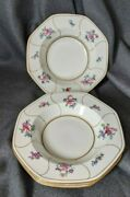 4 Cowell Hubbard Cleveland Octagonal Salad Pasta Plates Bowls White Gold England