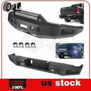 Front Rear Bumper Guard For 2010-2018 Dodge Ram 2500 3500 W Led Lights D-rings