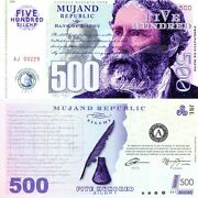 Mujand Republic 500 Zilchy Fantasy Note Famous Writer Series James Lowell