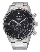 Seiko - Chronograph Stainless Steel Menand039s Watch - Ssb355