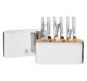 Christofle Concorde 24-piece Stainless Steel Flatware Set With Chest