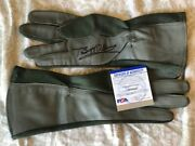 Buzz Aldrin Signed Us Military Flight Pilot Gloves Psa Dna Authenticated Rare