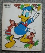 Donald Duck Wood Puzzle Playskool 190-02  9 Pieces