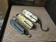 3 Vintage Central Scientific Chatillon Brass And Steel Hanging Balance Scale Lot