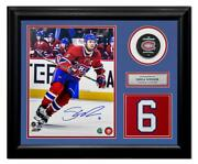 Shea Weber Montreal Canadiens Autographed 20x24 Jersey Number Frame