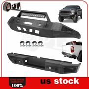 Front Rear Bumper Guard For 2007-2013 Toyota Tundra W Les D Lights D-rings Black