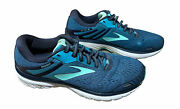 Brooks Adrenaline Gts 18 Women's Running Shoes Size 9.5 D Wide Blue And Navy