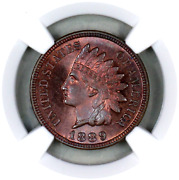 1889 Pf64 Bn Ngc Indian Head Penny Proof Example Superb Eye-appeal