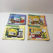 Leap Frog Little Touch Leap Pad Learning System 4 Cartridges And Books Lot B