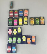 Lot Of 23 Post-it, Sign Date Tape Generic Tape Flags Used 12 Post It Brand