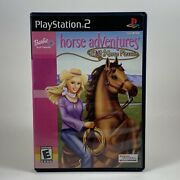 Barbie Horse Adventures Wild Horse Rescue Ps2 Case And Manual No Disc