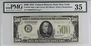 500 1934 Federal Reserve Note New York Pmg Choice Vf Erasure Witter Coin