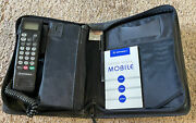 Vintage 90andrsquos Motorola Scn2449a Car Cell Phone W/ Bag And Manual