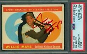 Willie Mays ⭐ Hof Signed 1960 Topps 564 All Star Psa/dna 10 On Card Red Ink Auto