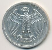 1973 The Letcher Mint One Troy Ounce .999 Fine Silver Eagle Art Round Coin 1 Oz