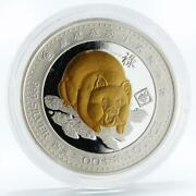 Palau 5 Dollars Lunar Calendar Series Year Of The Pig By Right Silver Coin 2007