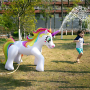Inflatable Unicorn Sprinkler 53 In Tall Outdoor Yard Lawn Kids Summer Fun Party