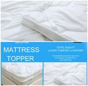 Hotel Quality 5cm Mattress Topper Thick Super Soft Protector Cover All Sizes