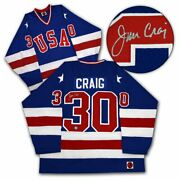 Jim Craig Team Usa Signed 1980 Olympic Gold Medal Jersey