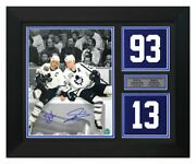 Doug Gilmour And Mats Sundin Toronto Maple Leafs Signed 20x24 Jersey Number Frame