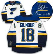 Doug Gilmour St. Louis Blues Signed And Dated 1st Nhl Goal Fanatics Jersey