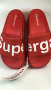 Superga Womens Slide Sandals 1919 Puw Red White In 37 Brand New With Tags