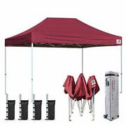 Eurmax 8and039x12and039 Ez Pop Up Canopy Tent Commercial Instant Canopies With Heavy Duty