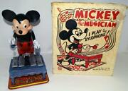 Ex Boxed Setdisney 1950's Large Vs.mickey Mouse Xylophone Wind-up Toy By Marx
