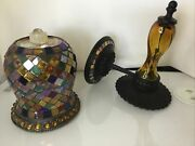 Partylite Global Fusion 2 Piece Sconce Set...inc. Peglight And Sconce Wall F31