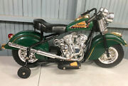 Kids Indian Ride On Battery Powered Motorcycle Giggo Toys 1948 Replica Pick Up