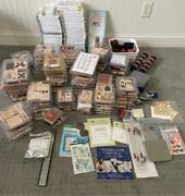 Huge Stampin Up Lot 124 Boxed Stamps / Some Unmounted / 1100+ Pieces Total