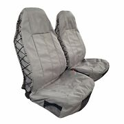 Waterproof Canvas High Back Car Seat Covers W/t Pockets Organizer For Wrangler