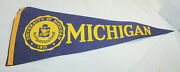 1977 University Of Michigan Wolverines Pennant 12 X 29 Purchased At Rose Bowl
