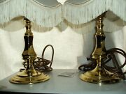 Vintage Aylesbury Polished Gold Table Lamps By Oaks Lighting