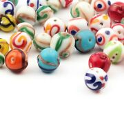 Lot 35 Vintage Czech Abstract And Overlay Lampwork Glass Beads