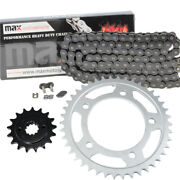 Black O-ring Drive Chain And Sprocket Kit For Honda Vt750c Shadow Ace750 1998-2003